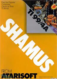 Box cover for Shamus on the Texas Instruments TI 99/4A.