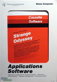 Box cover for Strange Odyssey on the Texas Instruments TI 99/4A.