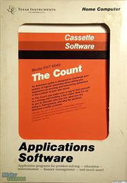Box cover for The Count on the Texas Instruments TI 99/4A.