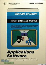 Box cover for Tunnels of Doom on the Texas Instruments TI 99/4A.