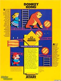 Box back cover for Donkey Kong on the Texas Instruments TI 99/4A.
