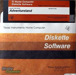 Cartridge artwork for Adventureland on the Texas Instruments TI 99/4A.