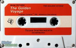 Cartridge artwork for Golden Voyage on the Texas Instruments TI 99/4A.