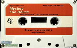Cartridge artwork for Mystery Fun House on the Texas Instruments TI 99/4A.