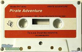 Cartridge artwork for Pirate Adventure on the Texas Instruments TI 99/4A.