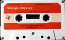 Cartridge artwork for Strange Odyssey on the Texas Instruments TI 99/4A.