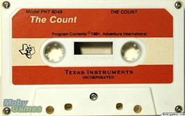 Cartridge artwork for The Count on the Texas Instruments TI 99/4A.