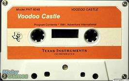 Cartridge artwork for Voodoo Castle on the Texas Instruments TI 99/4A.