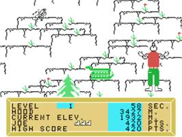 In game image of Alpiner on the Texas Instruments TI 99/4A.
