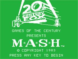 Title screen of M*A*S*H on the Texas Instruments TI 99/4A.