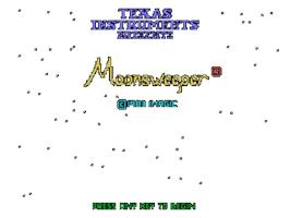 Title screen of Moonsweeper on the Texas Instruments TI 99/4A.