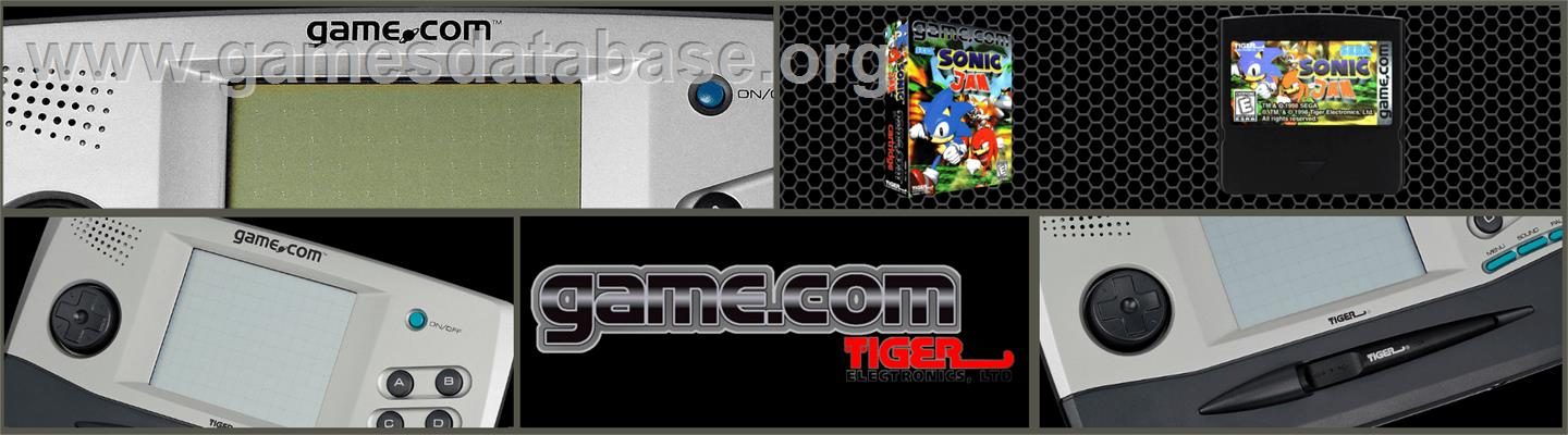 Sonic Jam - Tiger Game.com - Artwork - Marquee