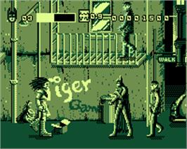 In game image of Batman & Robin on the Tiger Game.com.