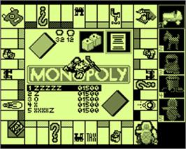 In game image of Monopoly on the Tiger Game.com.