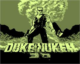 Title screen of Duke Nukem 3D on the Tiger Game.com.