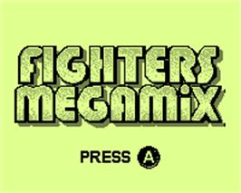 Title screen of Fighters Megamix on the Tiger Game.com.