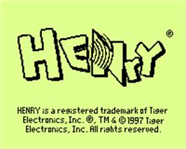 Title screen of Henry on the Tiger Game.com.