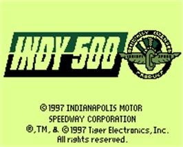 Title screen of Indy 500 on the Tiger Game.com.