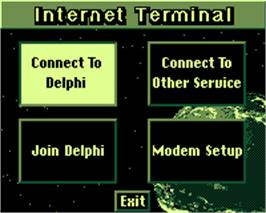 Title screen of Internet on the Tiger Game.com.