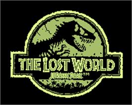 Title screen of Jurassic Park - The Lost World on the Tiger Game.com.