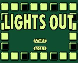 Title screen of Lights Out on the Tiger Game.com.