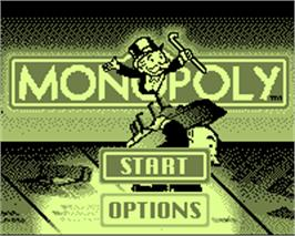 Title screen of Monopoly on the Tiger Game.com.