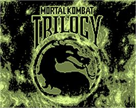 Title screen of Mortal Kombat Trilogy on the Tiger Game.com.