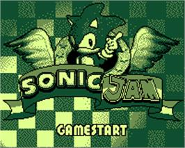 Title screen of Sonic Jam on the Tiger Game.com.
