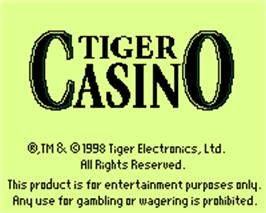 Title screen of Tiger Casino on the Tiger Game.com.
