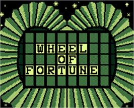 Title screen of Wheel of Fortune on the Tiger Game.com.
