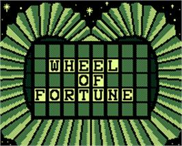 Title screen of Wheel of Fortune 2 on the Tiger Game.com.
