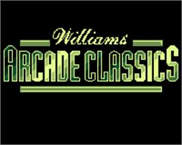Title screen of Williams Arcade Classics on the Tiger Game.com.