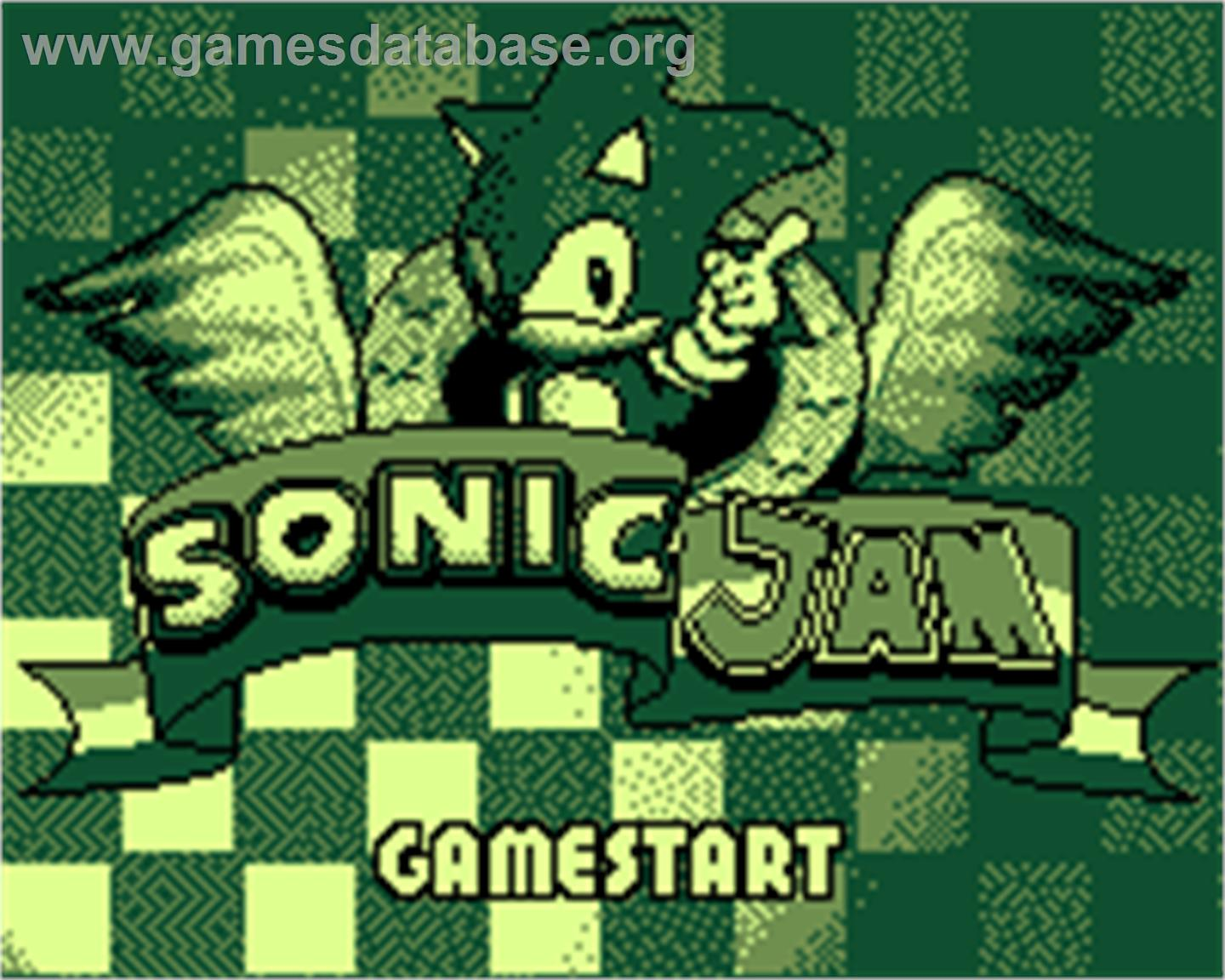 Sonic Jam - Tiger Game.com - Artwork - Title Screen
