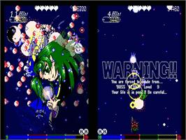 In game image of Phantasmagoria of Dim Dream on the Touhou Project.
