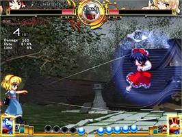 In game image of Scarlet Weather Rhapsody on the Touhou Project.
