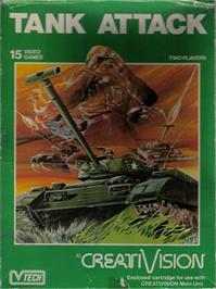 Box cover for Tank Attack on the VTech CreatiVision.