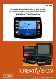 Box back cover for Air/Sea Attack on the VTech CreatiVision.