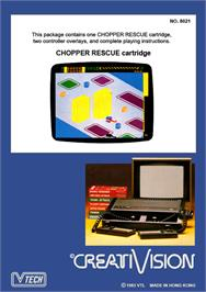 Box back cover for Chopper Rescue on the VTech CreatiVision.