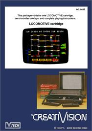 Box back cover for Locomotive on the VTech CreatiVision.