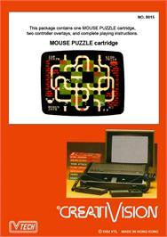 Box back cover for Mouse Puzzle on the VTech CreatiVision.