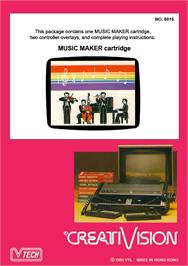 Box back cover for Music Maker on the VTech CreatiVision.