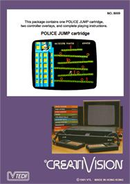 Box back cover for Police Jump on the VTech CreatiVision.
