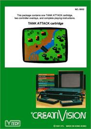 Box back cover for Tank Attack on the VTech CreatiVision.