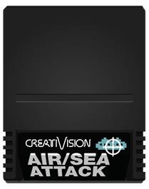Cartridge artwork for Air/Sea Attack on the VTech CreatiVision.
