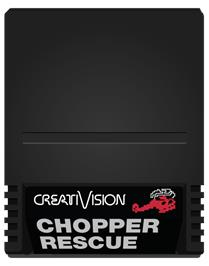 Cartridge artwork for Chopper Rescue on the VTech CreatiVision.