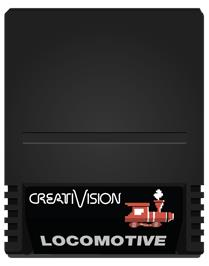 Cartridge artwork for Locomotive on the VTech CreatiVision.