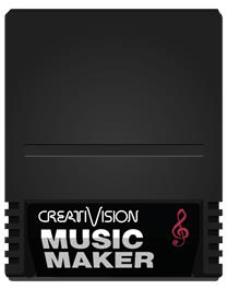 Cartridge artwork for Music Maker on the VTech CreatiVision.