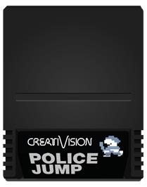 Cartridge artwork for Police Jump on the VTech CreatiVision.