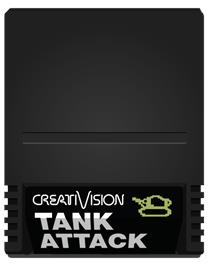 Cartridge artwork for Tank Attack on the VTech CreatiVision.