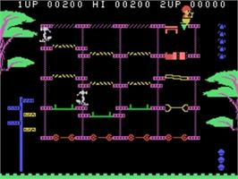 In game image of Locomotive on the VTech CreatiVision.